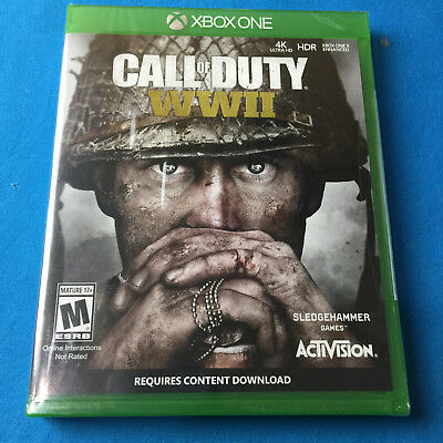 Brand New Call of Duty: WWII (Microsoft Xbox One, 2017)  ✔Ships Same Day Free!!