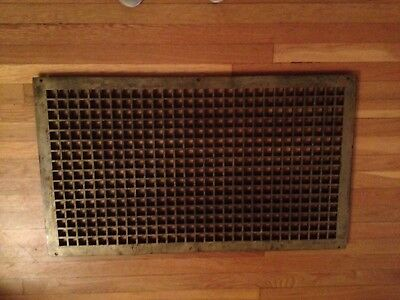 Vintage Huge Cast Iron 1920s Arts&Crafts Heat Grate 48lbs Architectural Salvage