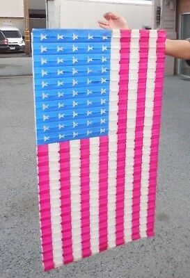 Vintage Nos Amscan American Flag Decoration 27X50 - 1950's-60's Wow!!