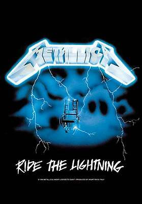 Metallica Fahne Flagge Ride The Lightning Posterflagge Textilposter poster flag
