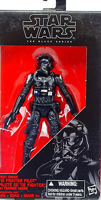"First Order Tie Fighter Pilot 6"" Inch (A)  Star Wars The Black Series Hasbro"