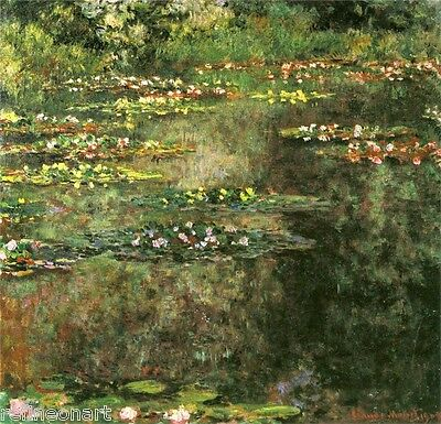 Water-Lilies, 1904  by Claude Monet Giclee Print Repro on Canvas