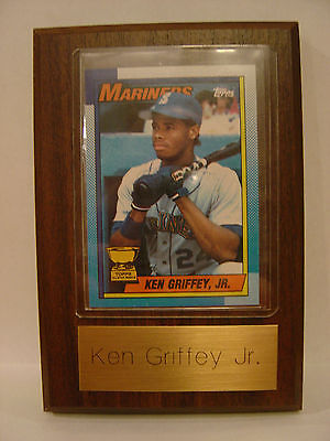 Ken Griffey Jr. RC Topps 4x6 Plaque Seattle Mariners