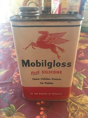 Mobilgloss One Pint Metal Can Mobil gloss full oil can