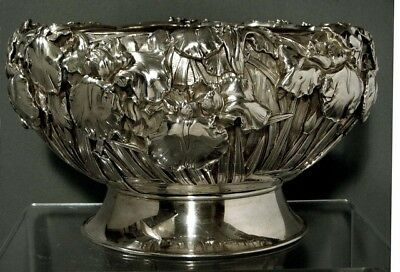 """Japanese Sterling Bowl     Signed  """"118 OUNCES""""         * Was  $9500 -  $8000 *"""