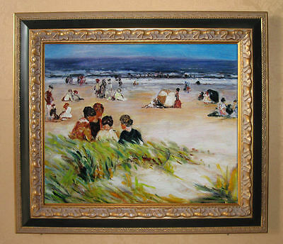 Edward Potthast By the Shore Handmade Oil Painting repro
