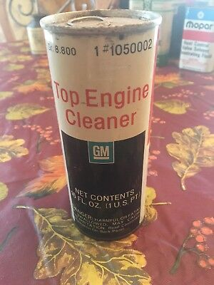 Vintage GM Top Engine Cleaner 1 US Pint (Full) #1050002 Flat top Can full