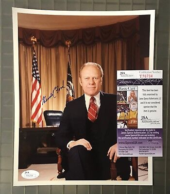 President Gerald Ford Signed 8x10 Photo AUTO Autograph JSA COA