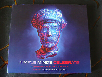 Slip Double: Simple Minds : Celebrate Greatest Hits + Tour 2013 Wolverhampton