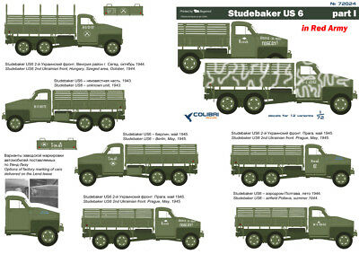 cd72024/ Colibri Decals - Studebaker US 6 - Rote Armee - Part I - 1/72