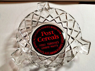 1950's Post Cereals, Posts Toasties, Grape Nuts, 40% Bran Flakes vintage Ashtray
