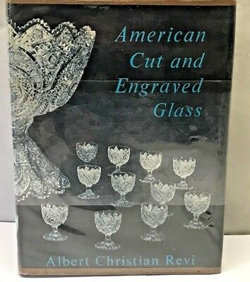 Vintage Book AMERICAN CUT ENGRAVED GLASS Patterns Identification Guide HARDCOVER