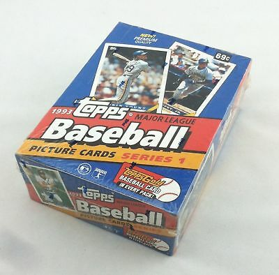 1993 Topps Baseball Series 1 Box Factory Sealed 36 Pack Box Possible Jeter RC