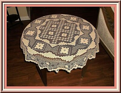 Gorgeous Unused Tuscany Lace Round Table Topper 36 Ins.