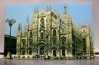 Italy Milan Duomo Piazza Cathedral Postcard Old Vintage Card View Standard Post