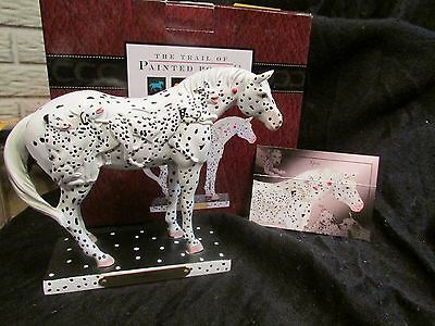 TRAIL OF PAINTED PONIES Raised Dalmatian Dogs SPOT Appaloosa Horse 1E/2591 NIB!