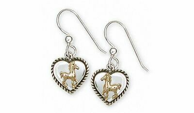 Horse Earrings Jewelry Silver And Gold Handmade Horse Earrings H14-TNTE