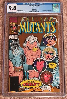 NEW MUTANTS #87 CGC 9.8 - 2nd Print Gold Cover - 1ST appearance of CABLE