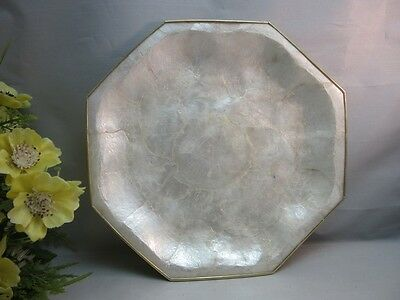 Vtg plate made with shell? Nice for Nautical Decor