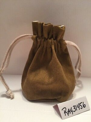 Origins canvas cosmetics Canvas bag pouch Jewelry Pouch Drawstring NEW
