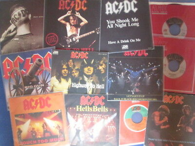 AC/DC  12x  7''  Big Gun, Are You Ready, That's The Way, Hells Bells,Baby Please