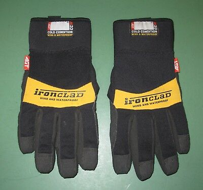 Ironclad Cold Condition Wind & Waterproof CCW Black Work Gloves Cold Weather XL