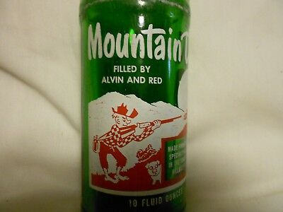 "Mountain Dew ""Hillbilly"" Bottle w / Cap -- Filled By Alvin And Red"