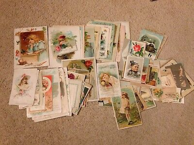 Huge Lot Of Victorian Trade Cards