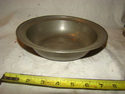 Antique Pewter Basin 18th Century 8 7/8 Inch Diameter Touch mark