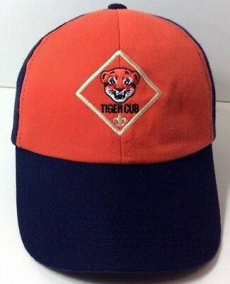 Tiger Cub Boy Scouts of America Tiger Cub Patch Cap On Front Youth Size S/M