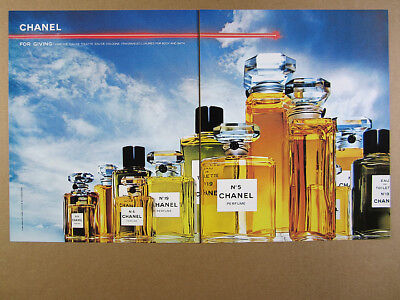 1984 Chanel No.5 No.19 Perfume Toilette Cologne bottles photo vintage print Ad