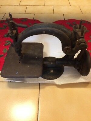 Antique Hand Crank Miniature Sewing Machine Cast Iron