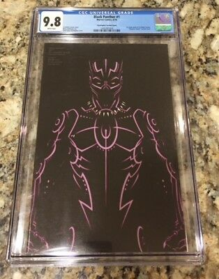 Black Panther #1 Marvel Comics Negative Space Variant Christopher Cover CGC 9.8