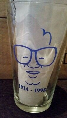 Chicago Cubs Harry Caray 1998 Commemorative Budweiser Wrigley Field Pint Glass