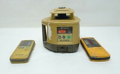 Topcon RL-H4C Self-Leveling Rotary  Laser Level W/2 laser Detector -  8/B11373A