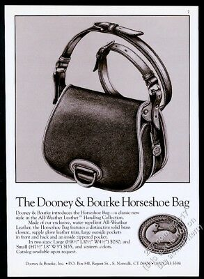 1988 Dooney & Bourke luggage Horseshoe Bag illustrated vintage print ad