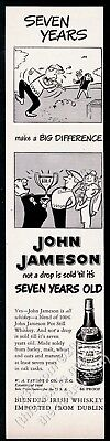 1951 John Jameson Irish Whiskey golf cartoon art vintage print ad
