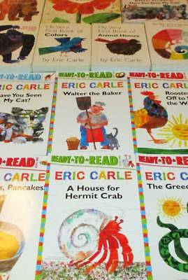ERIC CARLE Lot of 9-Softcovers/Board Books/Leveled Readers- Head to Toe,..