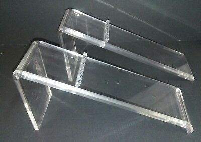 Shoe Display Stand Risers Slanted Clear Acrylic Set of 2