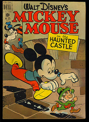 Four Color #325 (Mickey Mouse Haunted House) Nice Disney Dell Comic 1951 VG-FN
