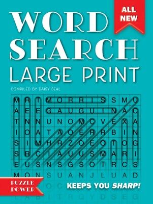 WORD SEARCH LARGE PRINT, Flame Tree Studio, Seal, Daisy, 97817866...