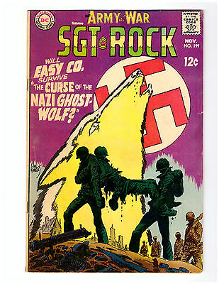 OUR ARMY AT WAR #199 in FN  grade 1968 DC WAR comic w/ SGT ROCK nazi cover