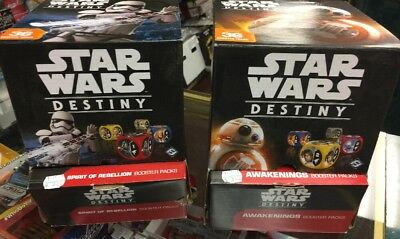 Star Wars Destiny Booster Boxes Awakenings + Spirit of the Rebellion 75% full
