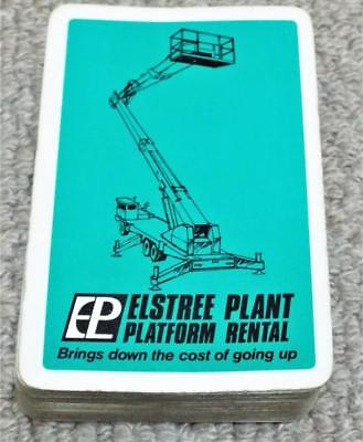 Elstree Plant Platform Rental - Vintage Pack of Advertising Playing Cards -Green