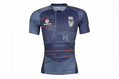 Canterbury Mens New Zealand Warriors NRL 2018 Rugby Training T-Shirt Blue
