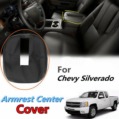 PU Leather Console Lid Armrest Cover For 07-13 Chevy Tahoe Suburban Yukon Sierra