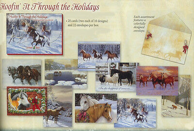 Xmas Cards HOOFIN IT THROUGH THE HOLIDAYS Card Assortment USA made