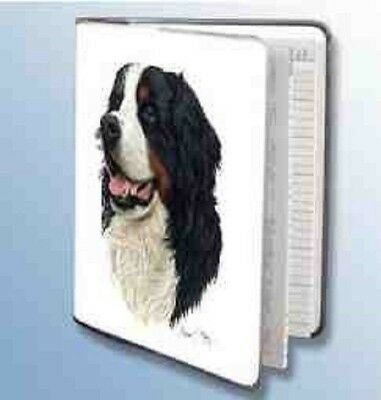 Retired BERNESE MOUNTAIN DOG Softcover Address Book art by Robert May