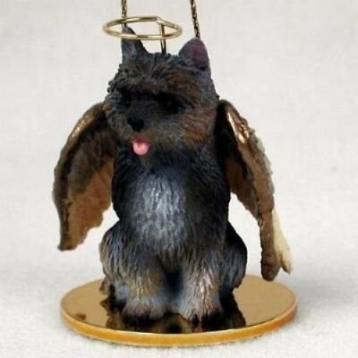 Small Angel CAIRN TERRIER BRINDLE Christmas Angel Tree Ornament