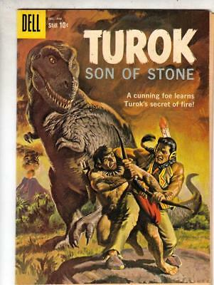 Turok Son of Stone # 18 strict VF+CoverPainted Tyrannasorus Rex